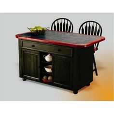 <strong>Sunset Trading</strong> Sunset Selections Kitchen Island with Ceramic Tile Top