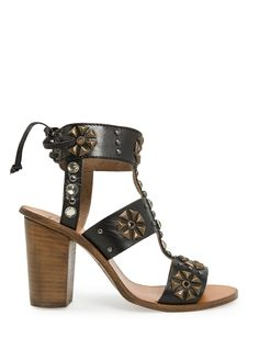 MANGO - TOUCH - Crystals and studs leather sandals
