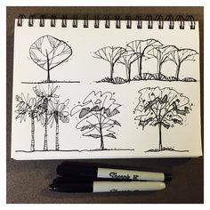 Rock Solid Advice On How To Spruce Up Your Landscaping - House Garden Landscape Landscape Sketch, Landscape Elements, Landscape Drawings, Landscape Paintings, Landscape Design, Architecture Sketchbook, Landscape Architecture, Tree Sketches, Drawing Sketches