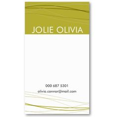 Waves Green :: Business Cards $19.10