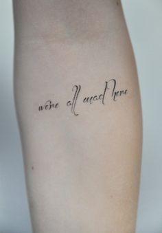 Temporary Tattoo Quote, Tattoo Temporary, Alice In Wonderland Quote, Small Temporary Tattoos, Birthday Gift, Gift Ideas, Mothers Day