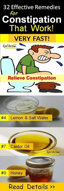 32 Effective Home Remedies To Relieve Constipation Immediately And Naturally