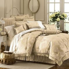 Waterford Dunloe Platinum King Comforter Set 4 Pc by Waterford, http://www.amazon.com/dp/B003KPLL3C/ref=cm_sw_r_pi_dp_dOekrb1X02JAY