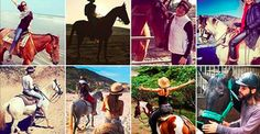 10 celebrities who relax on horseback.
