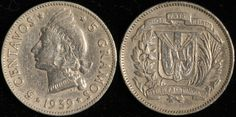 #DominicanRepublic 5 Centavos, 1939. Check it out and more World Coins at meridiancoin.com, see what's selling on our eBay, or come by our store in #Torrance CA. #coin #money #collecting #numismatic #numismatist