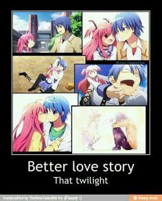 better than a lot of love stories.I cried. Hinata x Yui - Angel Beats!It's better than a lot of love stories.I cried. Hinata x Yui - Angel Beats! Manga Love, I Love Anime, Awesome Anime, Manga Girl, Angel Beats, Anime Couples Manga, Cute Anime Couples, Anime Girls, Sad Anime