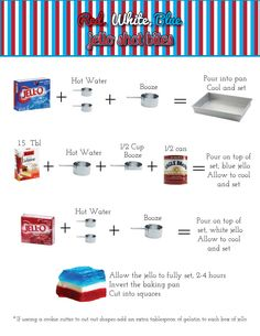 4th of July Jello, how to layer jello  | Miss Liss's Hott Mess