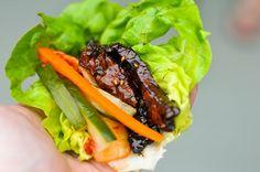 this is how koreans eat barbecue. the perfect bite with bulgogi, rice, pickled veggies, and a kick of heat. bulgogi recipe: http://www.meatwave.com/blog/bulgogi-korean-bbq-grilling-recipe