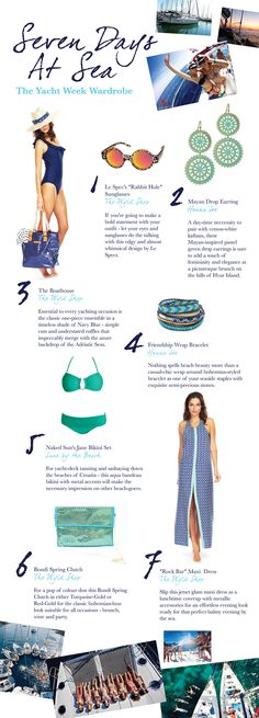 What To Wear | Seven Days at Sea: The Yatch Week | Travelshopa Bvi Sailing, Sailing Greece, Sailing Trips, Sailing Outfit, Boating Outfit, Cruise Outfits Mediterranean, Yacht Week, Yacht Builders, Yacht Cruises