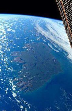 Ireland from space.