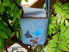 Kabelky - s motýľom modrá - 5494473_