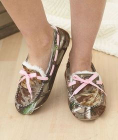 Moccasins Realtree Camo Northern Trail Slipper House Shoe Slip On Lined Women's Men's