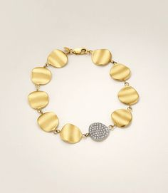 Origin Linked Bracelet with Diamond Pavé Link by Sandy Leong Jewelry