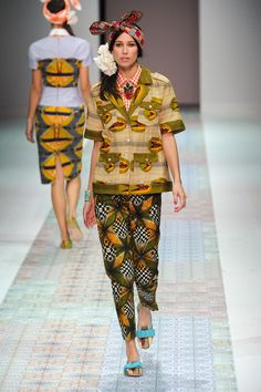 Stella Jean Spring 2014 Ready-to-Wear Runway - Stella Jean Ready-to-Wear Collection African Print Dresses, African Wear, African Attire, African Women, African Dress, African Prints, African Style, African Inspired Fashion, African Print Fashion