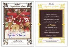 Joe Montana 2012 Leaf BA-JM1 Legends of Sport Autograph (#5/5)