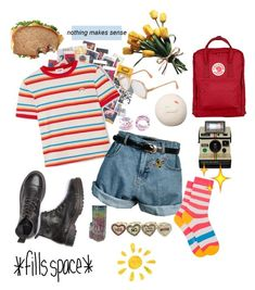 The person who wants summer now ~ Rainbow by majastina-2004 on Polyvore featuring polyvore RE/DONE Retrò Paul Smith Fjällräven Betsey Johnson Cazal Andy Warhol Polaroid fashion style clothing