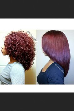 .curly to straight. I should get my hair cut like this!!