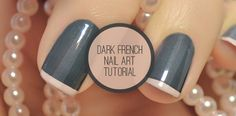 Dark French Nail Art Tutorial