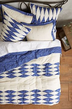 Dotted Ikat Quilt - anthropologie.com