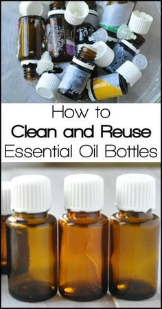 How to Reuse Your Empty Essential Oil Bottles - http://www.ohlardy.com Don't toss your empty bottles. Clean and reuse them. Great for making custom blends, roll-ons, sample bottles, travel bottles and more!!
