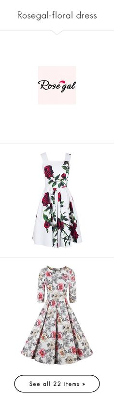 """""""Rosegal-floral dress"""" by fshionme ❤ liked on Polyvore featuring logo, collab logos, rosegal, quotes, article, saying, picture frame, phrase, borders and text"""
