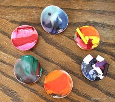 Fun summer project - melt broken crayons on a really hot day!