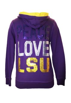 Tops- Peace Love LSU (Hoody)