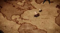 A map Designed and animated for a documentary about the Kogis Tribe on French TV (Fr2)