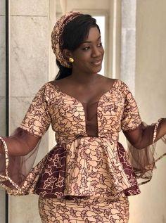 Beautiful Ankara Styles with a Sauce African Dresses For Women, African Print Dresses, African Attire, African Wear, African Women, African Style, Ankara Skirt And Blouse, Ankara Dress, African Fashion Ankara