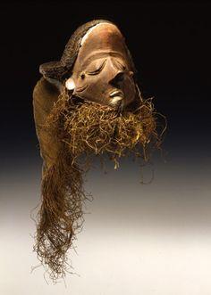 Africa   Pota or ginjinga mask from the Pende people of Djuma region, Congo   Wood, natural fiber and raffia   19th century