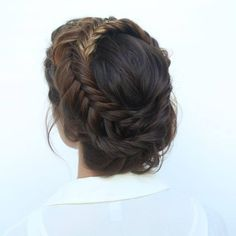 fishtail crown braid