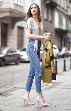 calça jeans e body