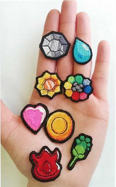 Pokemon Indigo Badge Patches by LittleBearsPatches on Etsy