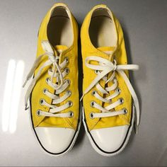 Shop Women's Converse Yellow size 9 Sneakers at a discounted price at Poshmark. Converse Classic, Chuck Taylors, Yellow Converse, Chuck Taylor Sneakers, Shoes, Fashion, Yellow Shoes, Moda, Zapatos