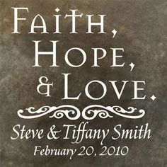 Christian Gifts of Hope and prayer – unique Christian Signs, Christian Faith, Wedding Plaques, Silhouette Projects, Silhouette Cameo, Wedding Prints, Faith Hope Love, Personalized Wedding Gifts, Sign Quotes