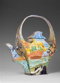 California Dream Teapot by Harriete Estel Berman #PutDownYourPhone #carde