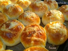 Poğaça - slané pečivo (fotorecept) - Recept Food And Drink, Appetizers, Pizza, Gluten, Bread, Baking, Basket, Appetizer, Brot