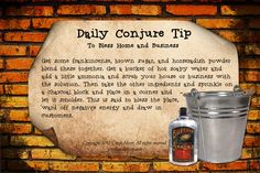 Daily Conjure Tip: To bless Home and business
