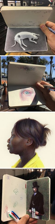 New Sketchbook-Based Ballpoint Pen Drawings by Nicolas V. Sanchez