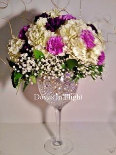 Big Wine Glasses for Centerpieces | Large Wine Glass Floral
