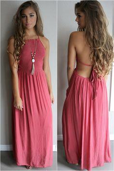 Devotion Red Crinkle Halter Neck Maxi Dress