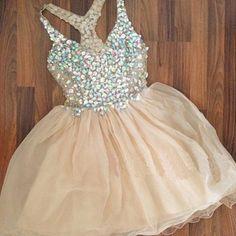2016 short prom dress,a-line v-neck mini tulle cocktail dresses/homecoming dress zp167 - Thumbnail 6