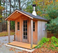 Outdoor sauna shed