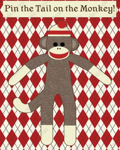 INSTANT DOWNLOAD diy Sock Monkey Birthday by CupcakeExpress