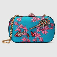 Broadway floral jacquard clutch
