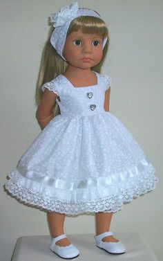 "pretty dress bloomers & aliceband fits 18-20"" Dolls Designafriend/Gotz hannah"