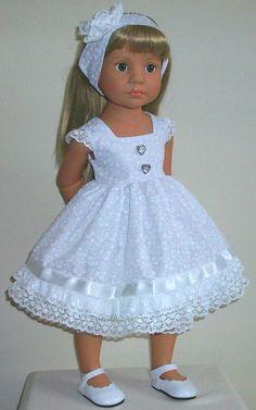 "Sunday dress bloomers & aliceband fits 18-20""  Dolls Designafriend/Gotz hannah"