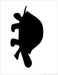 Silhouette Picture - Tortoise Silhouette