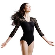 """Ok. I realize this is a ballet leotard but I love the neckline and the lace. It is very fitting that the leotard is called """"Kate"""" (a la Middleton). It is an open-back style as well, which is something I can do with the dress I want to reconstruct."""