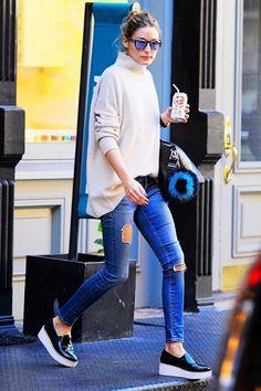 名媛 Olivia Palermo 最近迷上的百搭鞋子是⋯⋯